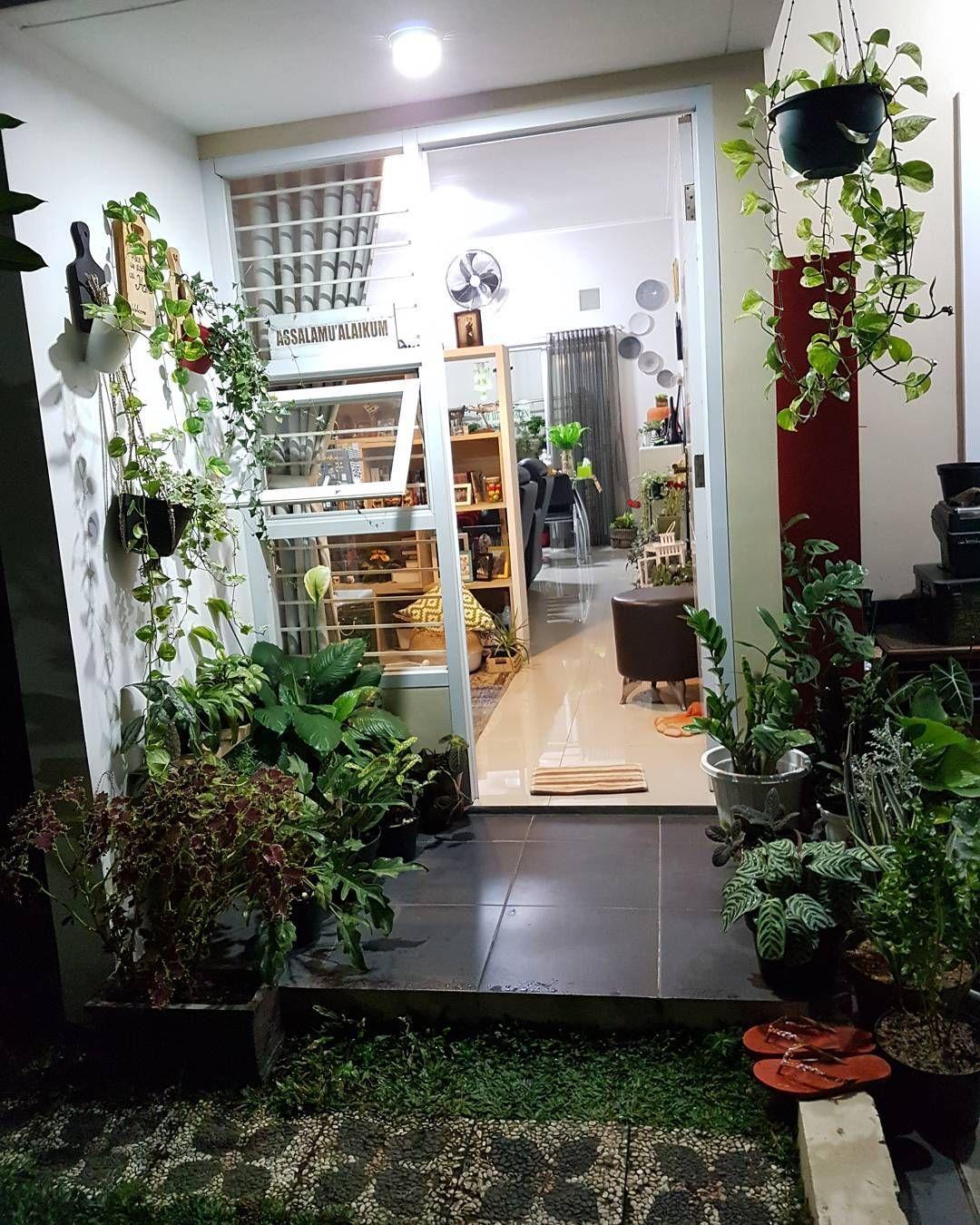 Keren Dengan Banyak Tanaman Rumah Rumah Tropis Desain Interior