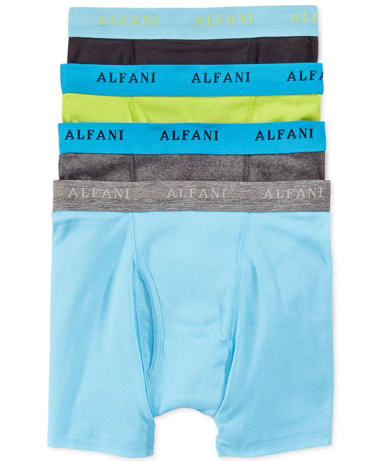 Alfani New Mens 4 Pack Knit Boxers Black