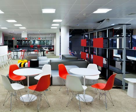 Different Colors But Fun For The Kitchen Google Office By Scott Brownrigg Interior Design