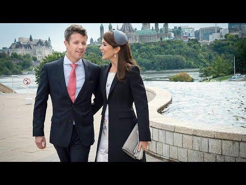 Kronprins Frederik og kronprinsesse Marys travle dag i Ottawa - YouTube