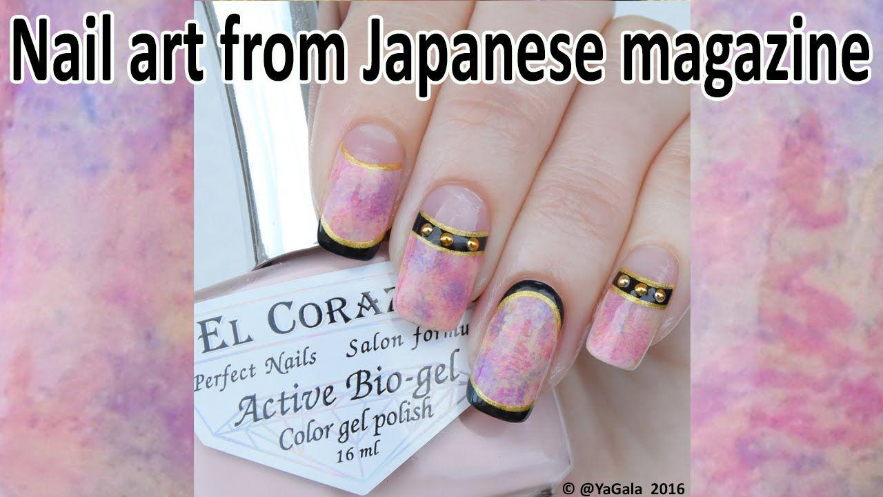 Japanese nail art / Дизайн из японского журнала | Nail Art Videos to ...
