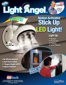 Review Of The Light Angel Motion Sensor Led Does It Work As Seen On Tv Product Reviews Light Angel See On Tv Motion Sensor