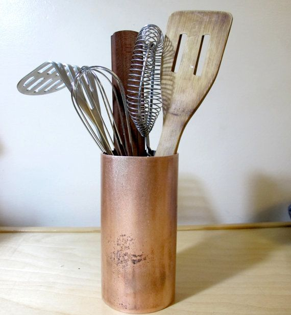 Rustic Kitchen Utensil Holder: Kitchen Utensil Holder Made From Rustic Recycled By