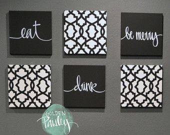 Hand Lettering Verse Canvas Painting By Goldenpaisley