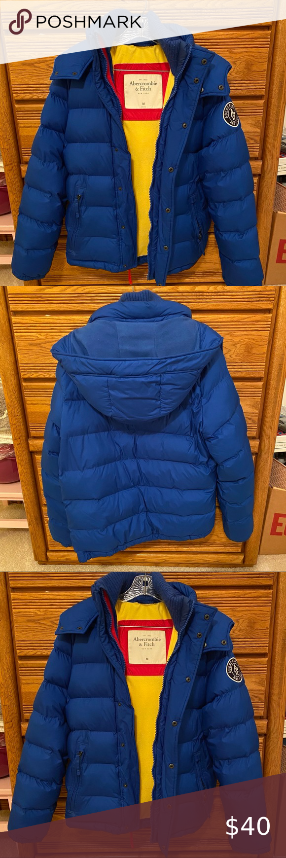 Abercrombie Fitch Men S Hunters Blue Puff Jacket Doll Clothes American Girl Light Blue Shirts Women Blue Puffer Jacket [ 1740 x 580 Pixel ]