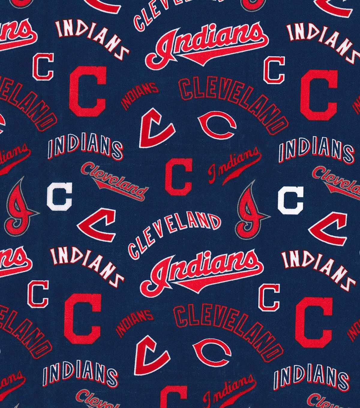 Cooperstown Cleveland Indians Cotton Fabric Joann Cleveland Indians Indians Cleveland
