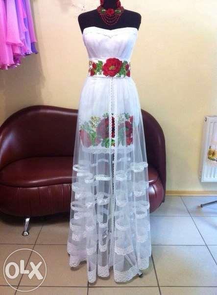 Вечернее платье в украинском стиле  1 800 грн. - Женская одежда Одесса на  Olx f92feb1076afb