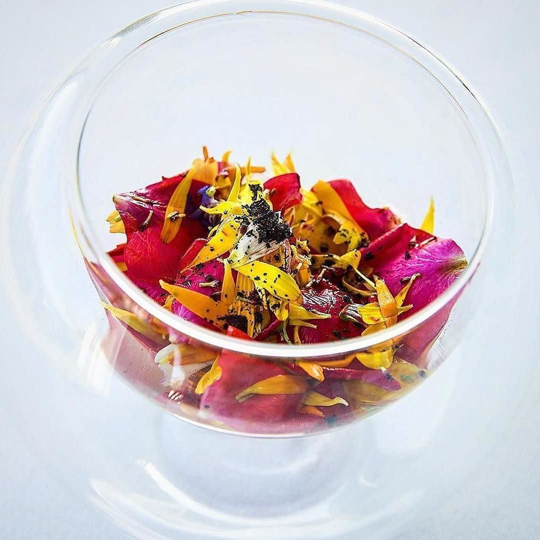 Flower Ceviche w Native honey from Jatai bees repost