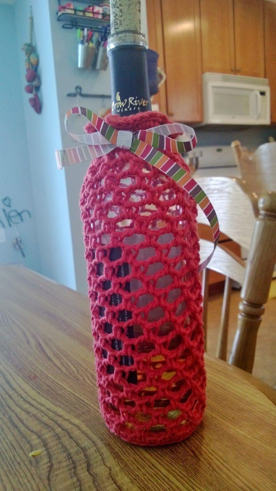 Wine Bottle Cozy | Free crochet, Cozy and Bottle