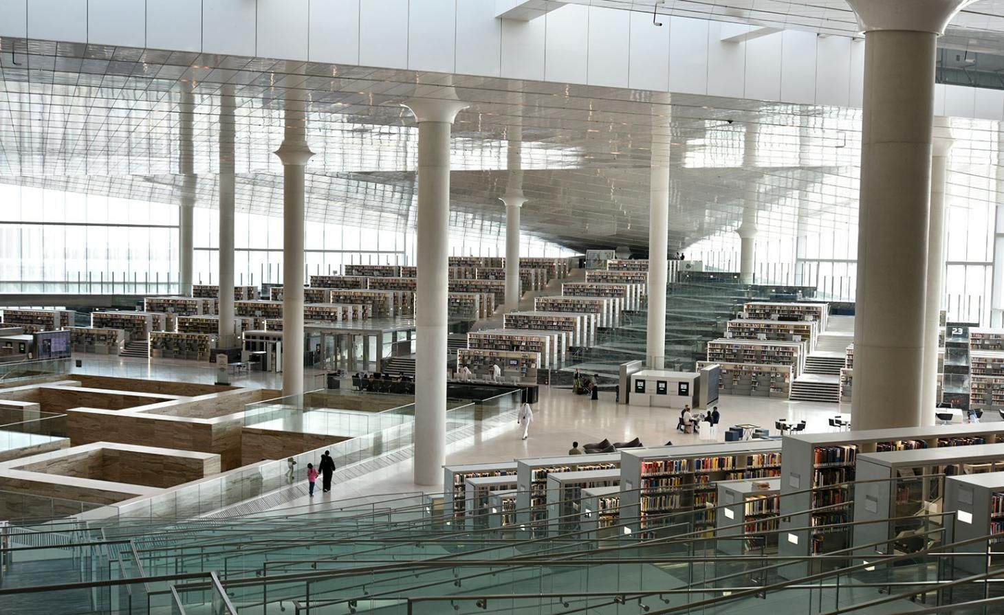 Inside Oma S Qatar National Library Architecture Architecture