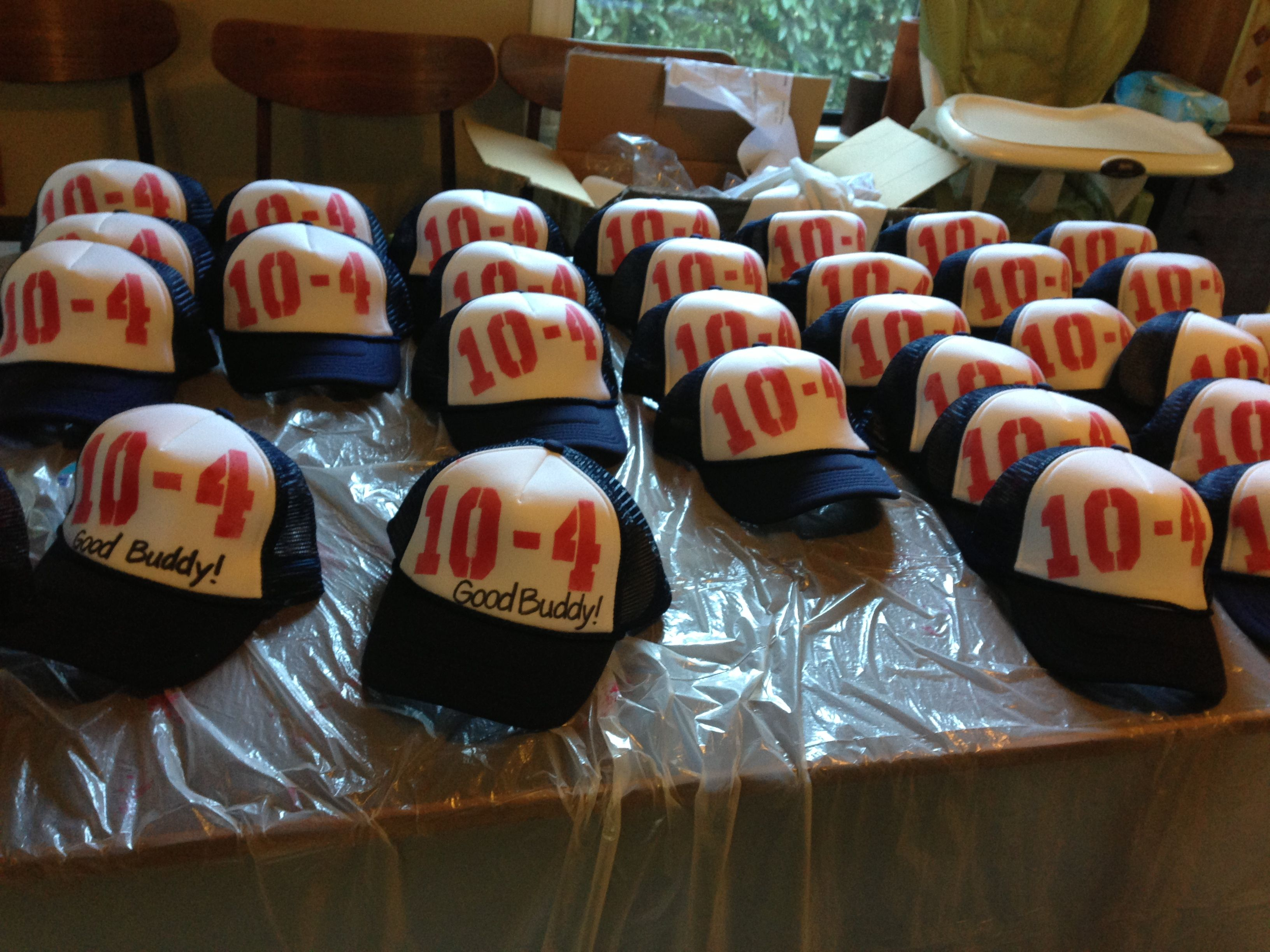 Custom Trucker Hat Party Favors 40th Birthday Parties Theme