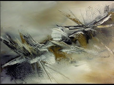 Acrylic Painting Floating Forms Acrylmalerei Schwebende Formen