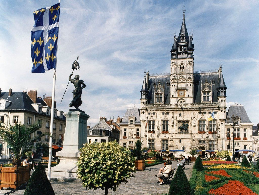 The Gorgeous H Tel De Ville City Hall Of Compi Gne Built From