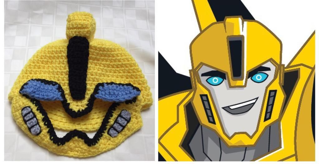 4 Name Crocheting Transformers Bumblebee Hat Crafts Crochet