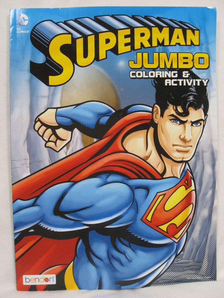 2 Books ~ 96 pgs Each DC Comics Superman Coloring and Activity Book Set