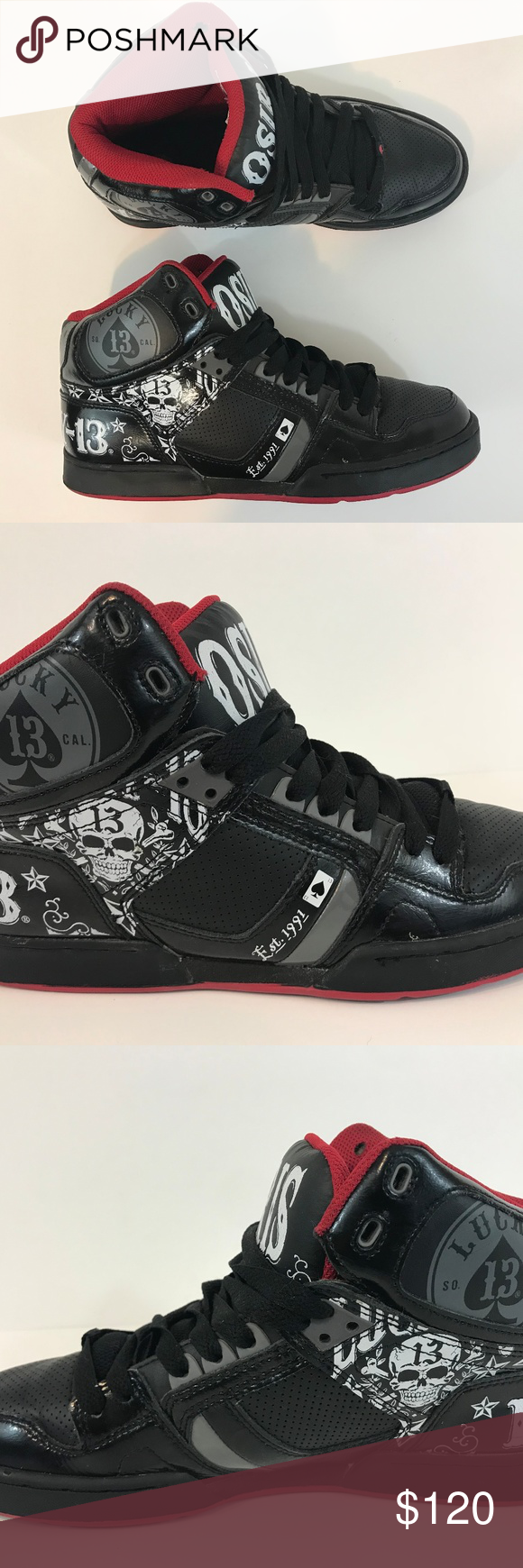 cf15d4e3047 Osiris Men NYC 83 Lucky 13 Skateboard Shoe Sz 10.5 Near mint. Rare and hard  to find shoe. Lucky Brand Shoes Athletic Shoes