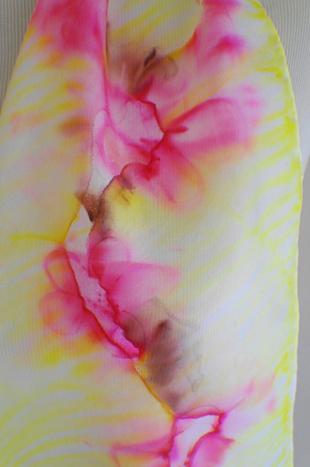 La peinture sur soie   PEINTURE SUR SOIE (et autre sorte de peinture ... 04bcde88a86
