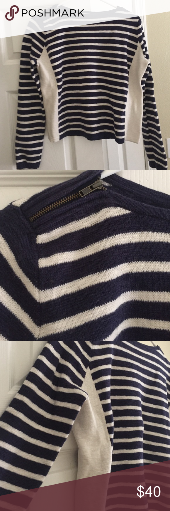 Madewell Navy and White Striped Sweater | Madewell and Summer sweaters