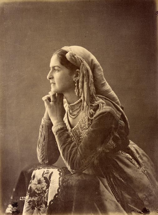 Femme Juive d'Algérie 19ème Siècle.