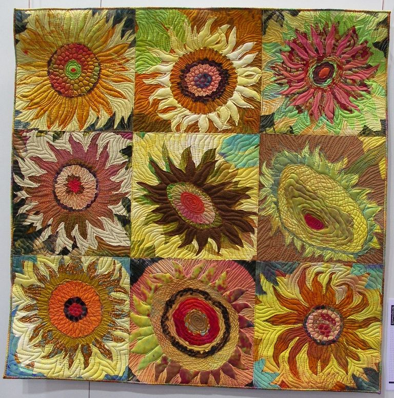 sunflower even and nephew sara from quilt quilts sunflowers pin by midnight seam doubledipity easier more serendipity ripping