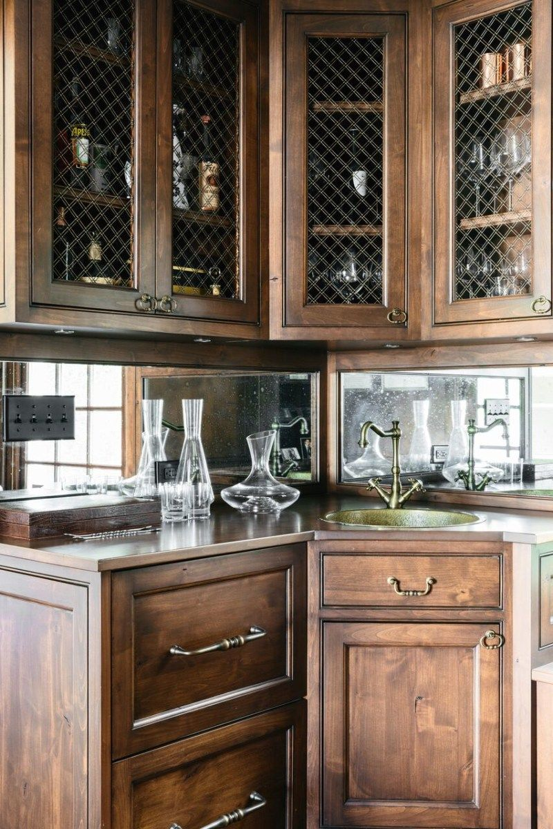 Mirrored Home Bar Ideas