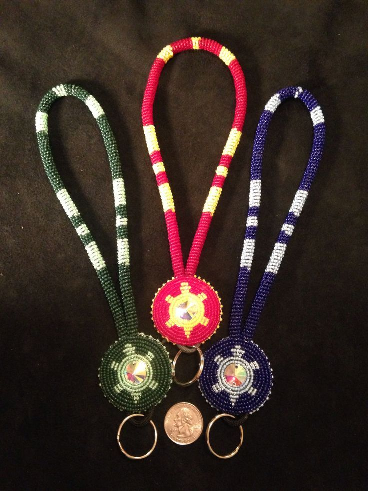 Native American Beaded Keychains Wrist Keychains With 20