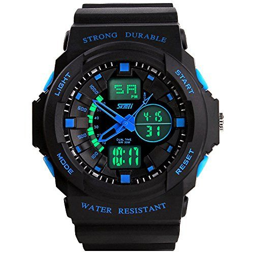 Skmei Men's Classical Business Multifunctional Watch Waterproof Function Round Dial Color Blue