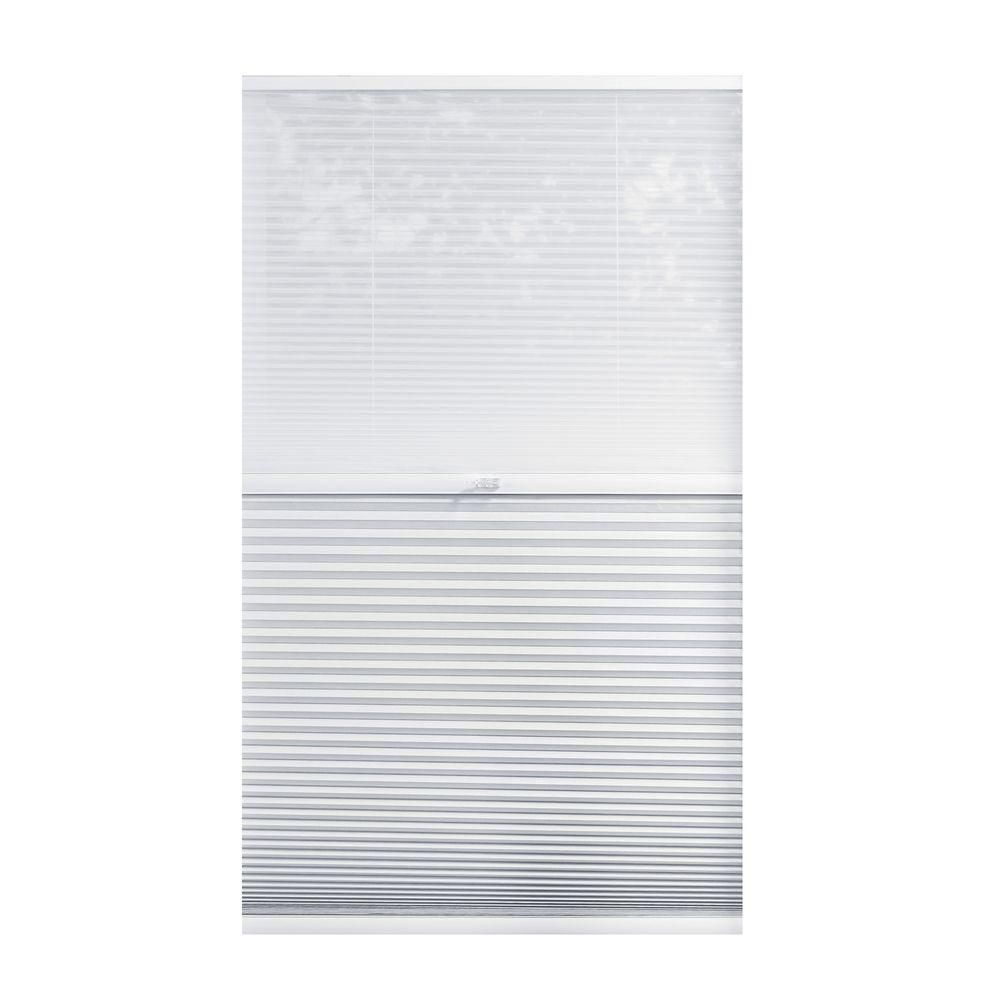 Home Decorators Collection Snow Drift Shadow White Cordless Day And Night Blackout Cellular Shade 54 5 In W X 48 In L 10793478908011 The Home Depot Cellular Shades Cordless Cellular Shades Home Decorators Collection