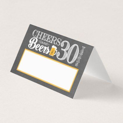 Cheers and Beers to 30 Years Place Card