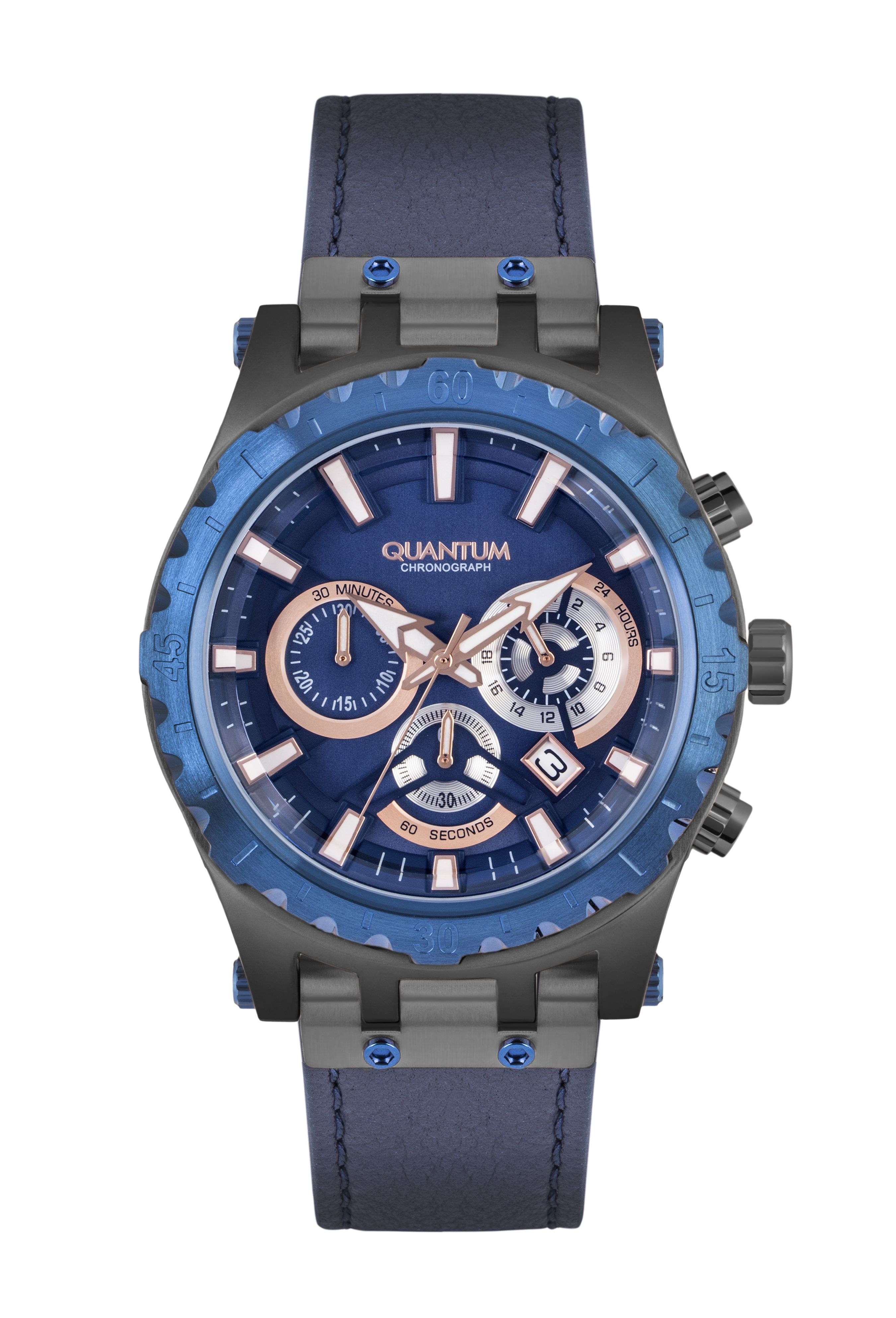 Quantum Hunter Chronograph Stainless Steel Bracelet Hng744 099