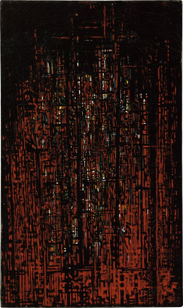 Norman Lewis's painting Cathedral (1950) - Norman Lewis and the Venice Biennale - Swann Galleries News