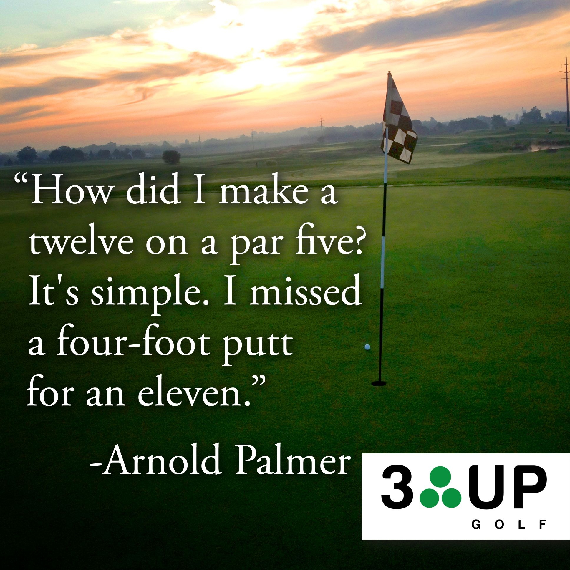 Arnold Palmer Quotes How Id I Make A Twelve On A Par Five It's Simplei Missed A Four