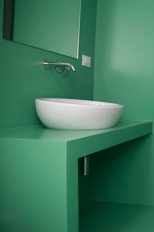 Errelab monocromo resina bagno un verde arsenico per - Resina per bagno ...