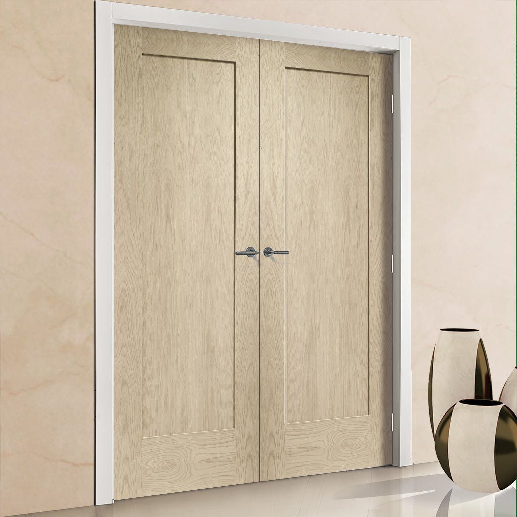 Prefinished Pattern 10 Style 1 Panel Oak Fire Door Pair Choose Your Colour Oak Fire Doors Oak Doors Diy Home Decor On A Budget