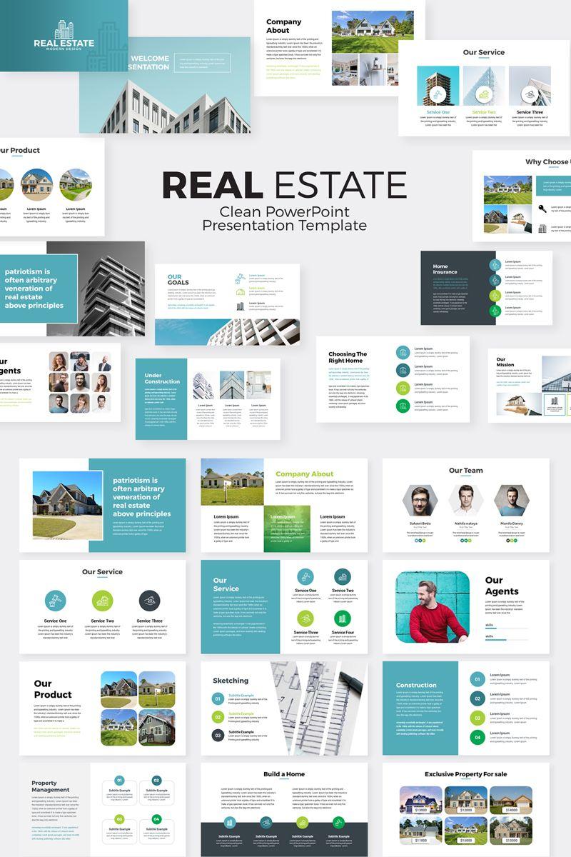 Real Estate PowerPoint Template 76958 Interior Design
