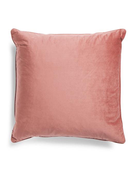 22x22 Luxury Blush Velvet Pillow Throw Pillows T J Maxx Blush Pillows Velvet Pillows Blush Throw Pillow