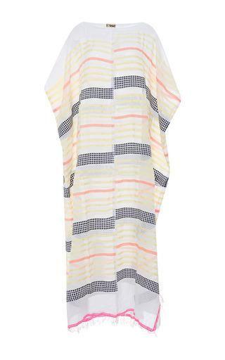 Amash striped maxi poncho by LEMLEM Available Now on Moda Operandi
