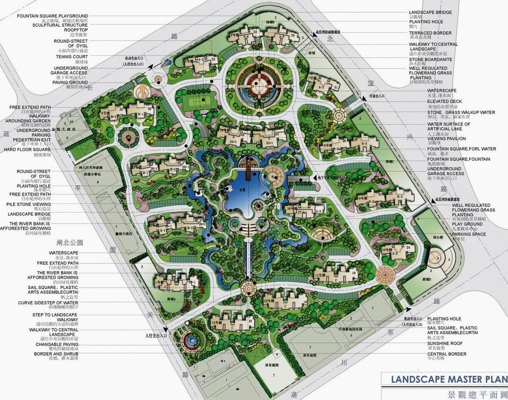Water fountains masters - Jiali Pearl Shanghai Landscape Master Plan By P H International Architecture Co Canada