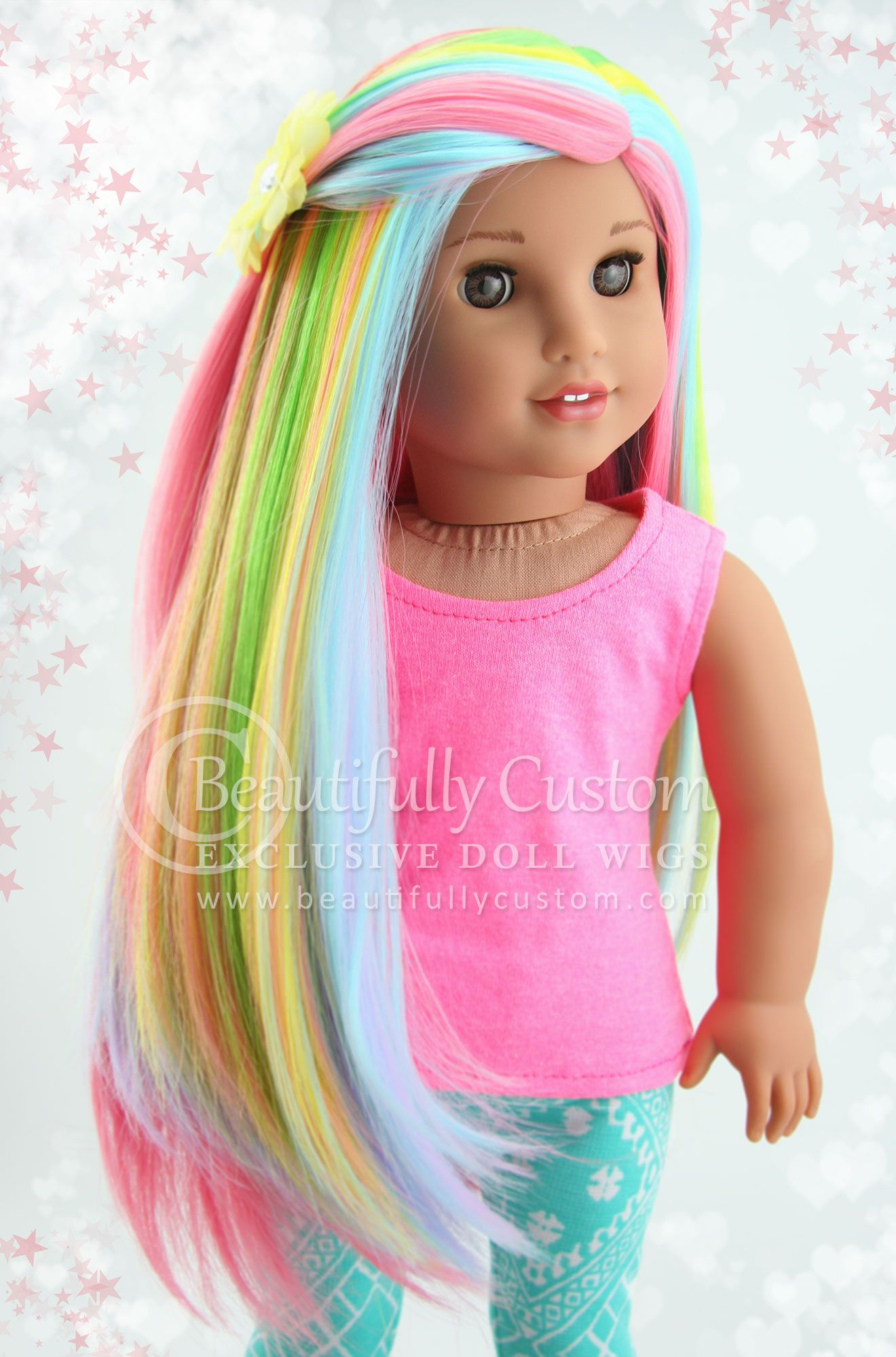 Deluxe Elegance Wig Watercolor Wigs Doll Wigs Elegant