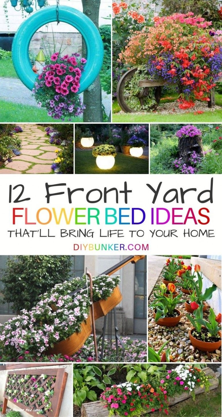 18 Galleries Of Diy Flower Bed Ideas Front Flower Beds Garden Front Of House Flower Bed Designs