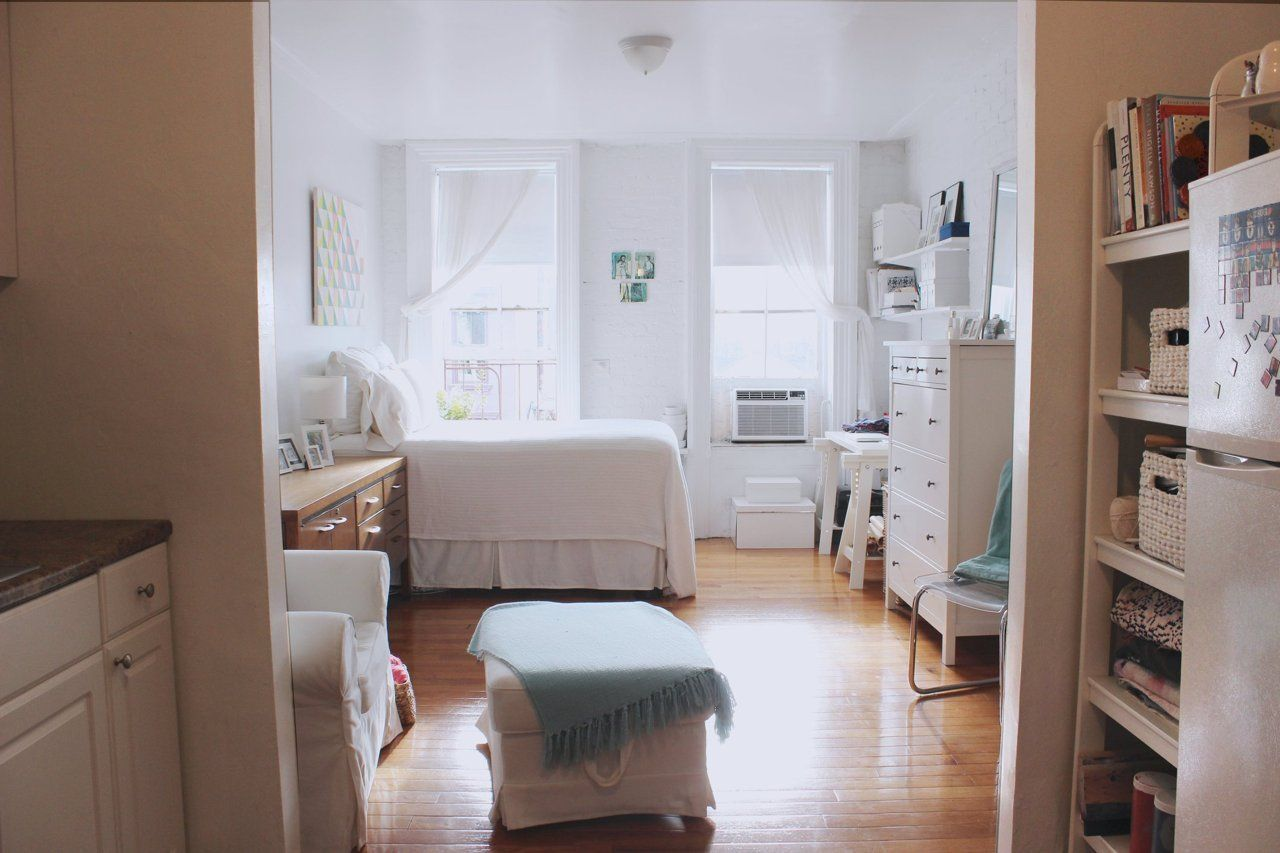 Tiny Home Designs: A Bright & Airy 400 Square Foot West Village Studio In