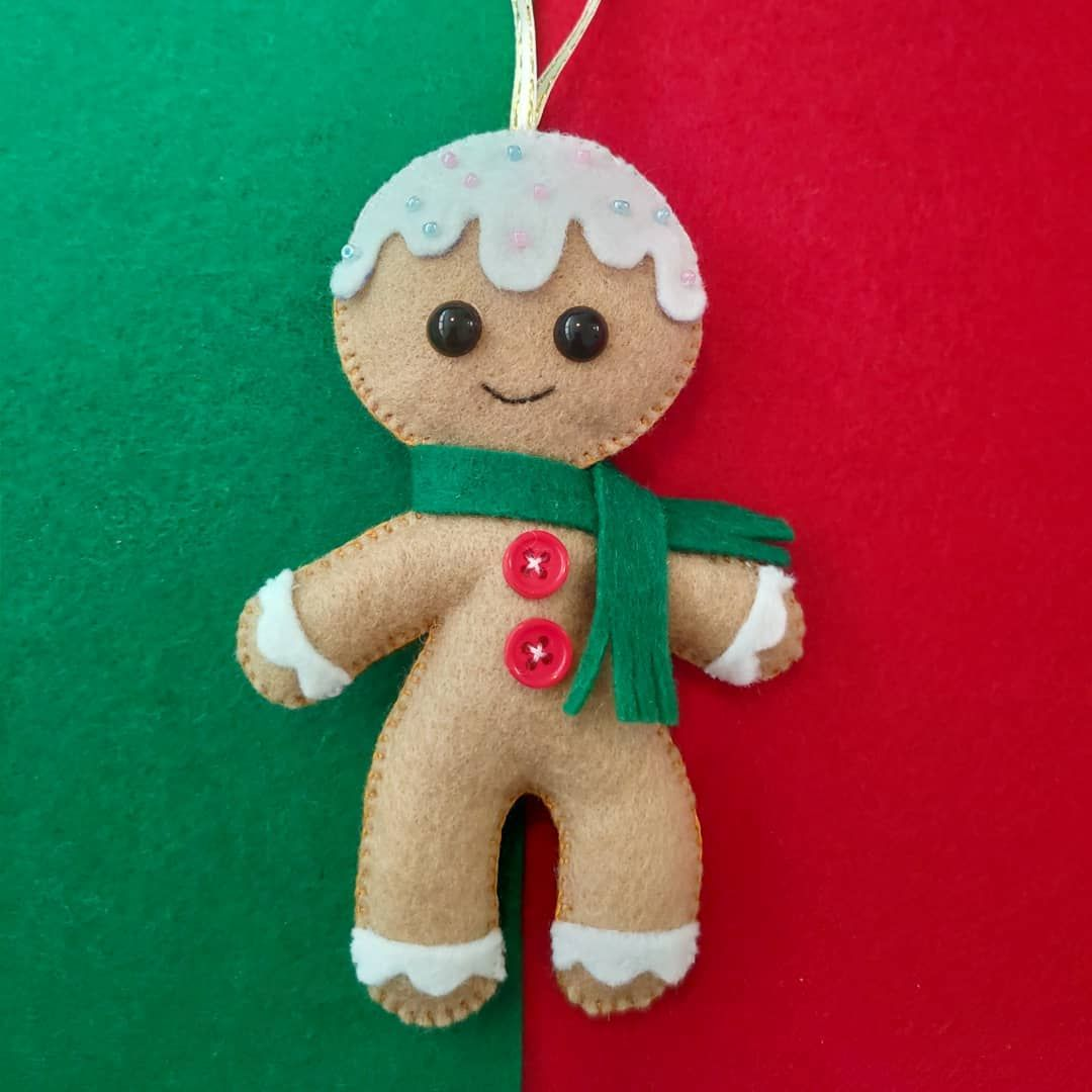 Updated Pattern For Handmade Felt Gingerbread Man Christmas