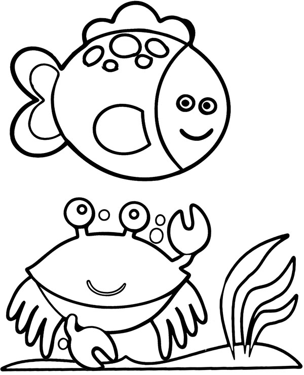Fish And Crab Worksheet To Print Or Download For Kids Fish