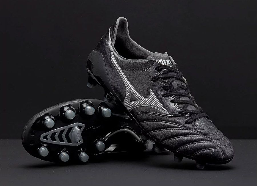 05d2cfcd6415  football  soccer  futbol  Mizuno  MizunoFootball Mizuno Morelia Neo II  Made in Japan MD - Black   Silver