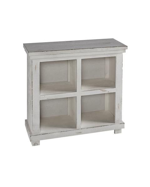 Willow Casual White Wood 32 Inch Shelves Bookcase White Wood