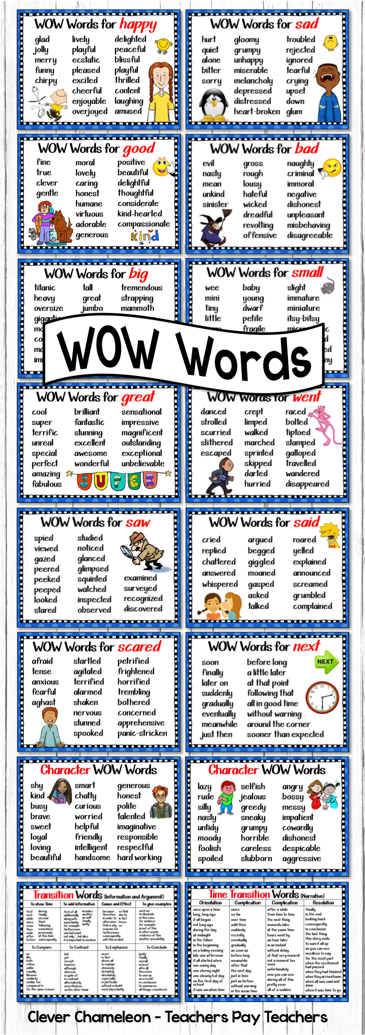 Synonyms Posters - WOW Words | literacy | Utbildning ...