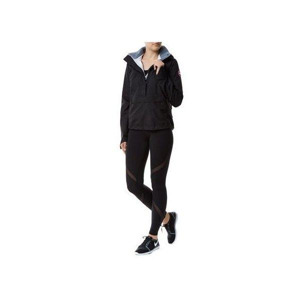 Canada Goose Brunswick Anorak Jacket ($615) ❤ liked on Polyvore featuring outerwear, jackets, waterproof shell jacket, hooded anorak, lightweight jackets, lightweight waterproof jacket and canada goose jacket