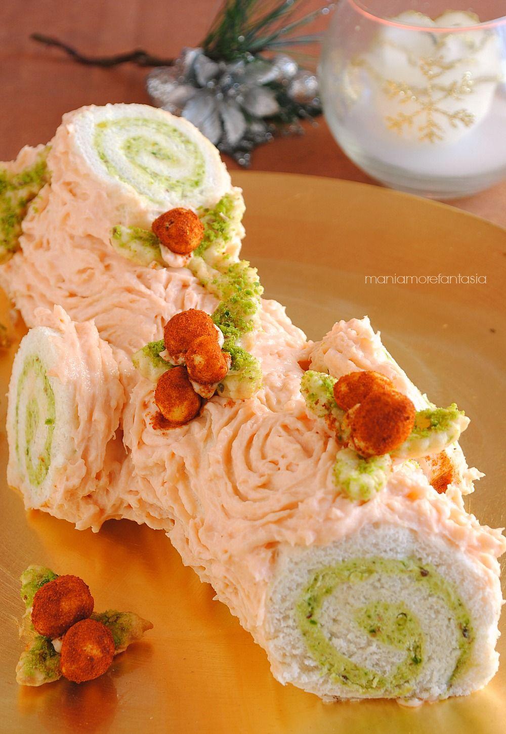 Tronchetto salato al salmone e pistacchi | Pistacchi, Salmone e ...