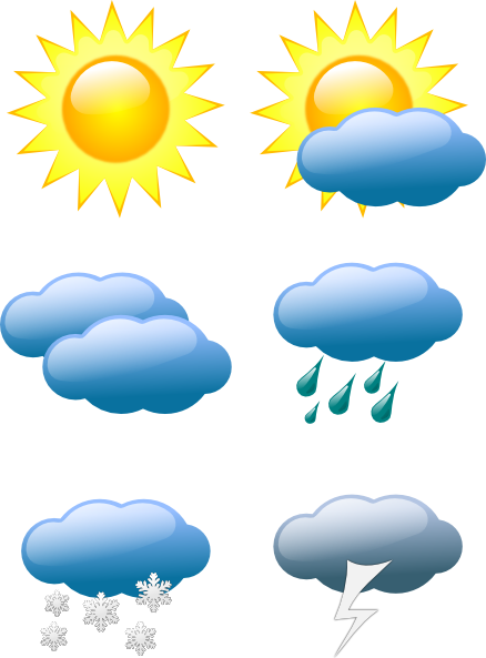 Style Guide Clker Weather Symbols Weather Activities Weather Clipart