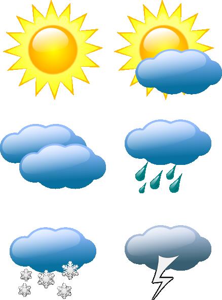 Sunny Weather Symbol : Sunny weather clip art symbols
